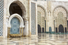 Detail of Hassan II Mosque in Casablanca, Morocco Royalty Free Stock Photos