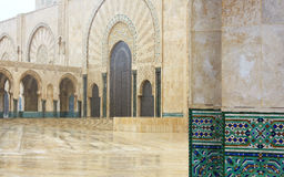 Detail of Hassan II Mosque in Casablanca, Morocco Stock Images