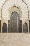 Detail of Hassan II mosque. One of the beautiful doors of the Hassan II mosque in casablanca Royalty Free Stock Image