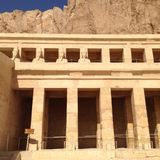 Detail from Hatshepsut temple Royalty Free Stock Photos