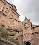 Detail of the Haut-Koenigsbourg Castle Royalty Free Stock Images