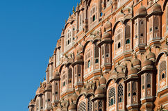 Detail of Hawa Mahal palace in Jaipur Royalty Free Stock Photo