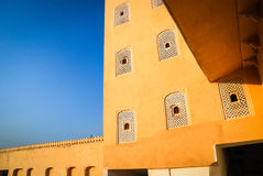 """Detail of Hawa Mahal, the Palace of Winds, Jaipur. Hawa Mahal, translated as Palace of Winds or """"Palace of the Breeze"""", is a palace in Jaipur, India. Built Royalty Free Stock Images"""