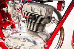 Detail of the head of the engine of a vintage motorcycles Stock Photo