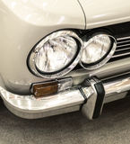 Detail on the headlight of a vintage car Stock Photo