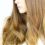 Detail of healthy blond long  wavy hair Royalty Free Stock Image