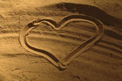 Detail heart in sand Stock Image