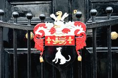 Detail of heraldic gate Royalty Free Stock Photo
