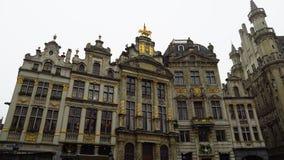 Detail het van Grand Place (Grote Markt) in Brussel, België Royalty-vrije Stock Afbeelding