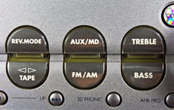 Detail of hi-fi control panel Royalty Free Stock Image
