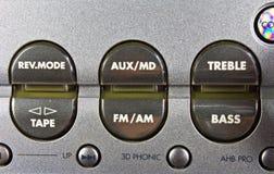 Detail of hi-fi control panel Royalty Free Stock Image