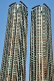The detail of the high density residential building in Hong Kong. Skyscrapers in everyday life stock photo