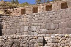 Detail, high quality of Inca stone wal Royalty Free Stock Photography