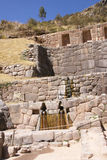 Detail, high quality of Inca stone wall Royalty Free Stock Photos