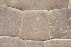 Detail, high quality of Inca stone wall Stock Photos