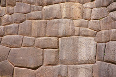 Detail, high quality of Inca stone wall Royalty Free Stock Photography