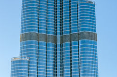 Detail of high rise building in Dubai Stock Photography