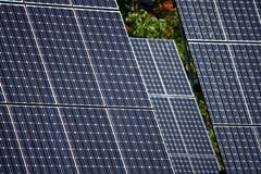 Detail of high technology PV solar panels Stock Photography
