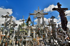 Detail. Hill of Crosses. Siauliai. Lithuania Royalty Free Stock Photo