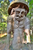 Detail. Hill of Witches. Juodkranté. Lithuania. The Hill of Witches is an outdoor sculpture gallery near Juodkrantė, located on a forested sand dune Stock Image