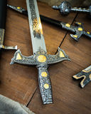 Detail of the hilt of a sword. Detail of the hilt of a sword that dates from the time of the Crusaders Royalty Free Stock Image