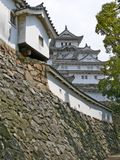 Detail of Himeji Castle. Detail of the inner walls of beautiful Himeji Castle. This huge castle, which is also called Heron's castle for its white colour, is stock photography