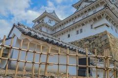 Detail Of Himeji Castle Japan stock images