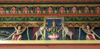 Detail of Hindu temple Royalty Free Stock Photo
