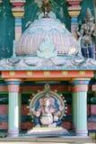 Detail of a Hindu temple at Saint Andre Royalty Free Stock Photos