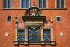 Detail of historic architecture from Prague. Royalty Free Stock Photo