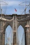 Detail of historic Brooklyn Bridge in New York Stock Photo