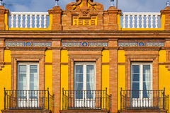 Detail of historic building in the city centre of Seville,Spain. Detail of historic building in the city centre of Seville,Andalusia,Spain Royalty Free Stock Photo