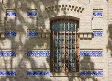 Detail of a Historic Building's Exterior in Valencia Stock Photo