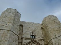 A detail of the historic castel del monte Royalty Free Stock Images