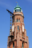 Detail of historic lighthouse at Bremerhaven Royalty Free Stock Photography