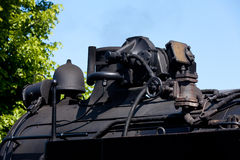 Detail  a historic steam locomotive Stock Image