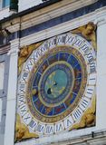 Detail of a historical  astronomical clock in Brescia Royalty Free Stock Images