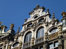 A detail of a historical house in Brussels Stock Photo