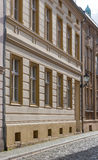 Detail of historical houses in Luckau, Germany Royalty Free Stock Image