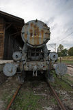 Detail of the historical train at Radegast Station in Poland Royalty Free Stock Image