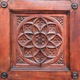 Detail of historical wooden door Stock Photos
