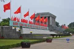 Detail of Ho Chi Minh Tomb mausoleum in Hanoi, Vie Stock Image