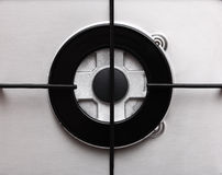 Detail of hob gas burner Royalty Free Stock Photos