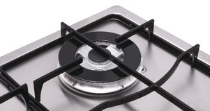 Detail of hob gas burner Royalty Free Stock Photography