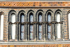 Detail of the Holsten Gate (Holstentor) in Lübeck Stock Images