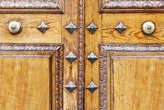 Detail-Holztür Lizenzfreies Stockbild
