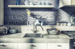 Detail of home kitchen Royalty Free Stock Photo