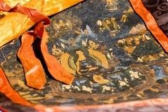 Detail horizontale Mandala stock afbeeldingen