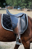 Detail of a horse saddle Stock Photo