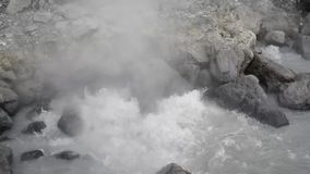 Detail of hot springs, guggling stock video footage